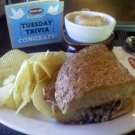 Free lunch! Thanks, Jason's Deli and #TuesdayTrivia!