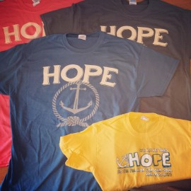 "Adoption fundraiser t-shirts: ""We have this hope as an anchor"""