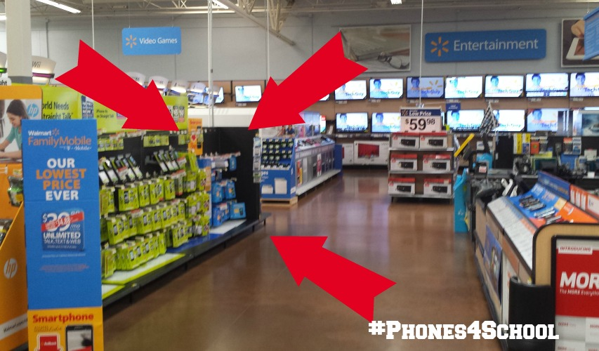#Phones4School Walmart location