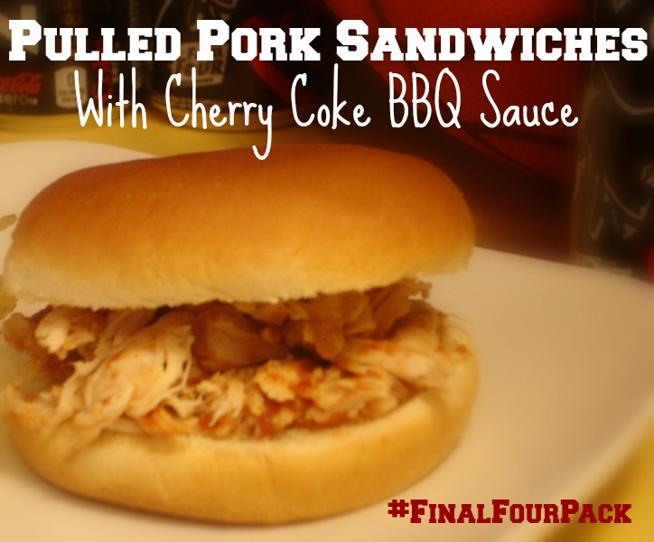 #FinalFourPack Pulled Pork Sandwich with Cherry Coke BBQ Sauce